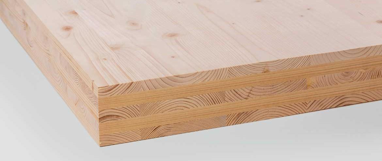 Massiv mit Holz gebaut